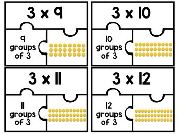 3.OA.C.7 - Multiplication Puzzles: Three as a Factor!