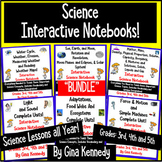 Science Interactive Notebooks BUNDLE! Science Lessons for the Entire Year!