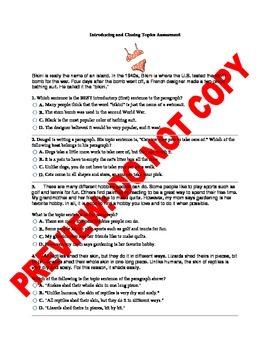 3RD GRADE CCSS WRITING ASSESSMENT BUNDLE