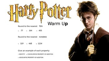 3RD GRADE DAILY MATH WARM UP - HARRY POTTER
