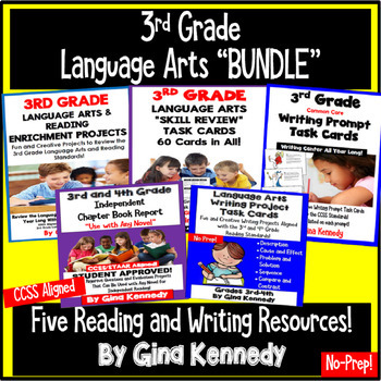 3rd Grade Language Arts Bundle, Standards Aligned Reading & Writing Projects!