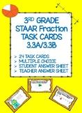 3RD GRADE STAAR FRACTION TASK CARDS