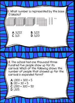3RD GRADE STAAR PLACE VALUE TASK CARDS