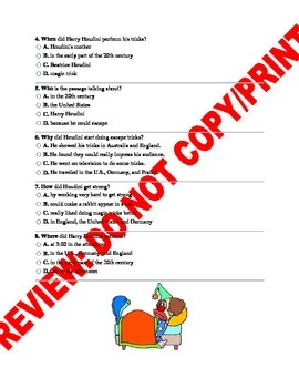 3RD Grade Asking & Answering Questions Assessment