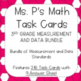 3RD Grade Measurement and Data Task Cards - ALL Standards