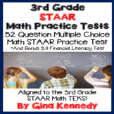 3rd Grade STAAR Math Practice Tests, Plus Bonus Financial