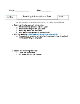 3RI5 Search Tools Assessment