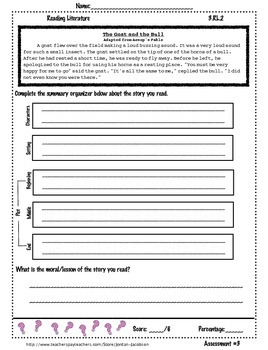 3.RL.2 Recount Stories assessment pack of 3