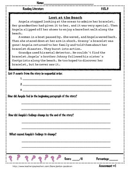 3.RL.3 Describe characters in a story pack of 3 assessments