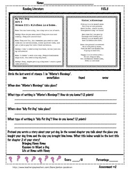 3.RL.5 Refer to Parts of Stories Pack of 3 Assessments
