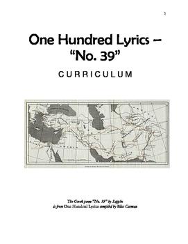 """3SL - One Hundred Lyrics - """"No. 39"""" - Greek Poem"""