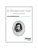3SL - Thomas Edison as a Boy - Inventor
