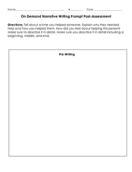 3W.3 Narrative Writing Pre and Post Assessment