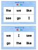 3c. Benchmark Advance Kinder Sight Word Bingo Units 1-10