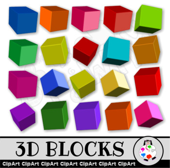 3d Building Blocks Clip Art
