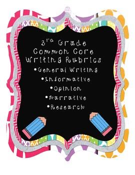 3d Grade Common Core Writing Rubrics
