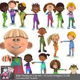3d Kids Pronoun Clip Art for Beginner Grammar & ESL Resources - Grammar Clipart