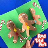 3d Pop Up Card for Christmas - GINGERBREAD MEN - Paper Chain Fun!