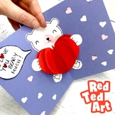 3d Pop Up Heart Cards for Valentine's Day or Mother's Day