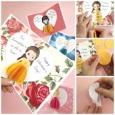 3d Princess Cards for Valentines OR Blank Cards - Princess
