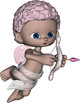 3d Render Clip Art - Cute Cupids Clipart OK for Commercial Use
