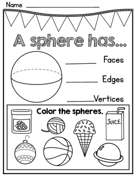 3D Shape Attribute and Application Worksheets