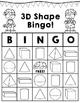3D Shape BINGO Holiday Version