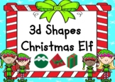 3d Shape Christmas Elf BOOM Cards (distance learning)