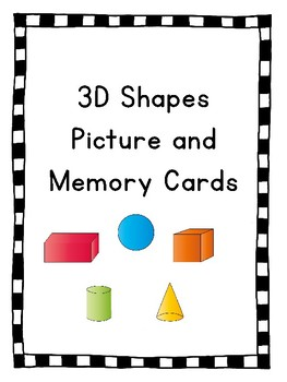 3D Shape Picture and Memory Cards