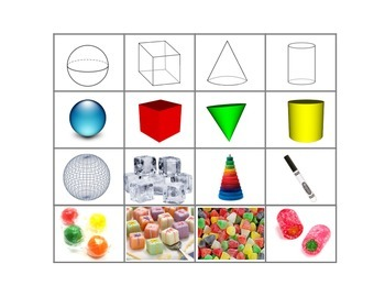 3d Shape Sorting Mat and Cards