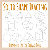 3d Shape Tracing Clip Art Set for Commercial Use