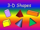 3d Shapes (Solid Shapes) Power Point Lesson and Millionaire Game
