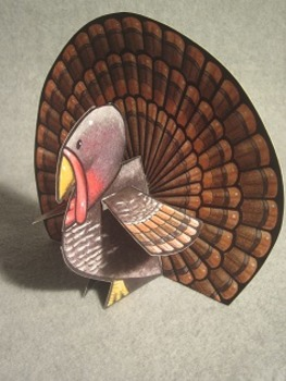 Thanksgiving Turkey. Fun Two Sided 3D Craft Art