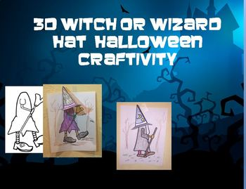 3d Witch Wizard Hat Halloween Craftivity