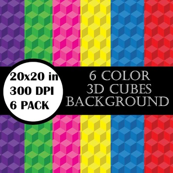 3d cubes Set Clipart Digital Clip Art Graphics 6 images cod3