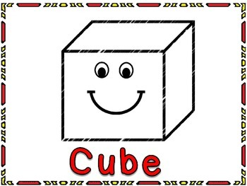 3d shapes-free cube poster