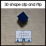 3d shapes nets clip and flip