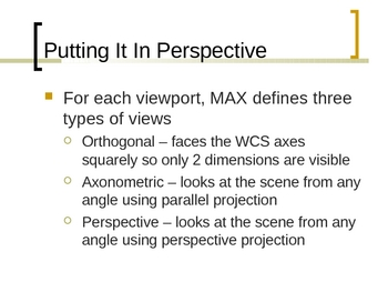 3ds max Viewport Navigation and Display Interface PPT