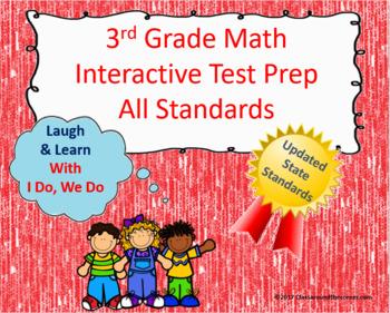 3rd Grade Math Interactive Test Prep: All 25 Standards ***