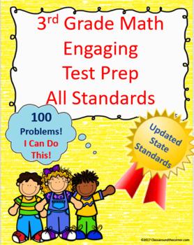 3rd Grade Math Interactive Test Prep: All Standards - 100