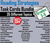3rd 4th 5th 6th Grade Reading Comprehension Task Cards