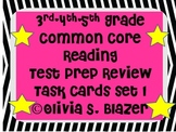 3rd, 4th, 5th Grade Common Core Comprehensive Reading Review Task Cards Set 1