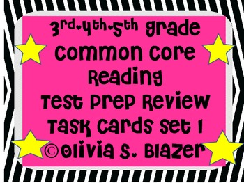 3rd, 4th, 5th Grade Common Core Comprehensive Reading Revi