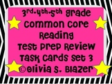 3rd, 4th, 5th Grade Common Core Comprehensive Reading Review Task Cards Set 3