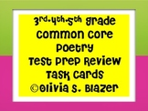3rd, 4th, 5th Grade Common Core Poetry Test Prep Task Cards