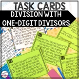 Division with One-Digit Divisors Task Cards
