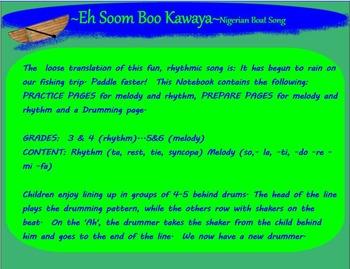EH SOOMBOO KAWAYEH~ Nigerian Boat Song ~ti ta ti~SMARTboard