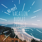 3rd, 4th, 5th Grade Math Vacation Budget Project-- End of the Year Project-- PBL