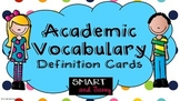 3rd, 4th, 5th Grade Reading Academic Vocabulary TEKS and S