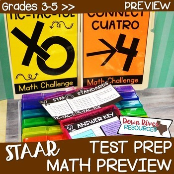 3rd, 4th, 5th Grade TEXAS Math Test Prep Review Games Bundle PREVIEW